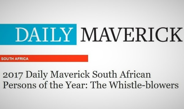 Daily Maverick South African Persons of the Year&#58 The Whistle-blowers